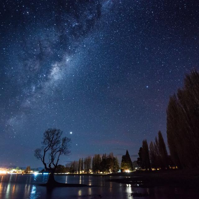 """""""Milky Way over Wanaka"""" stock image"""