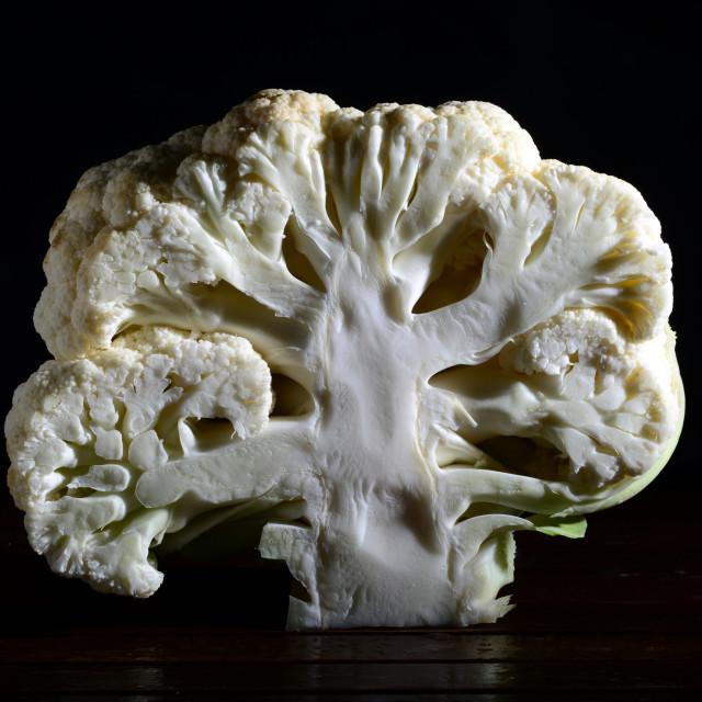 """Half cauliflower still-life"" stock image"