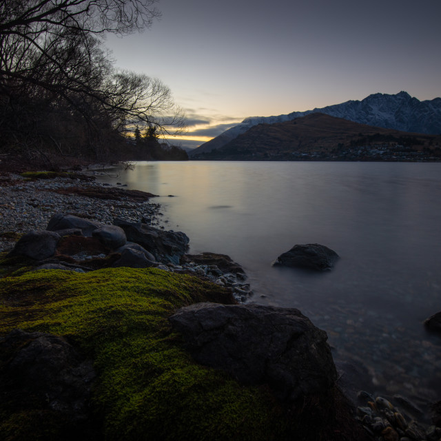 """Queenstown Sunrise"" stock image"