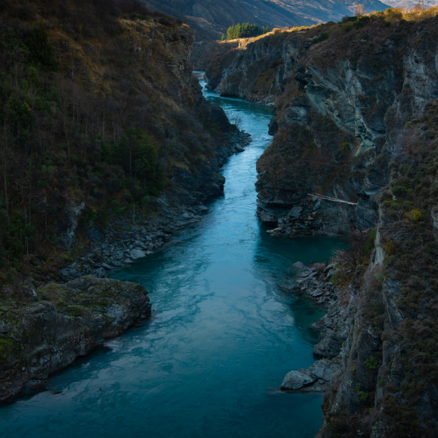 """Shotover Canyon"" stock image"