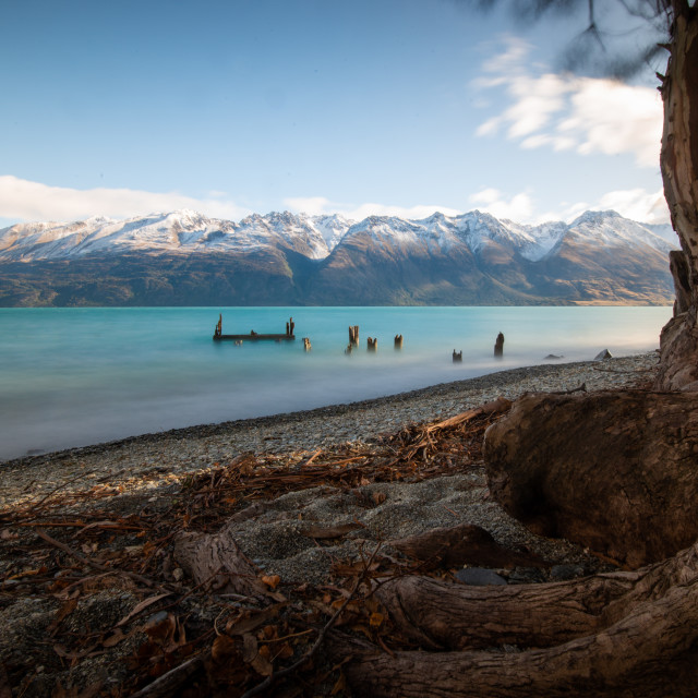 """Road to Glenorchy"" stock image"