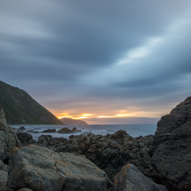 """Sunset at Makara"" stock image"