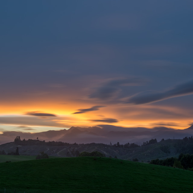 """""""Sunset at Nelson"""" stock image"""