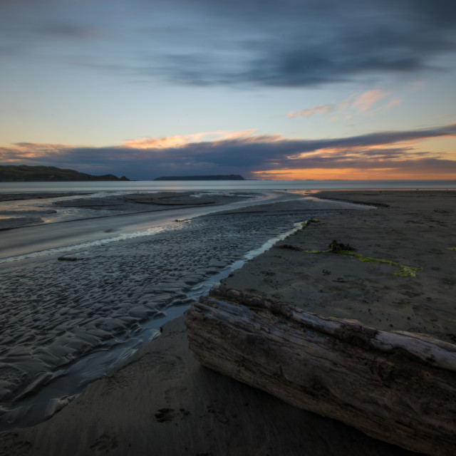 """Plimmerton Sunset"" stock image"