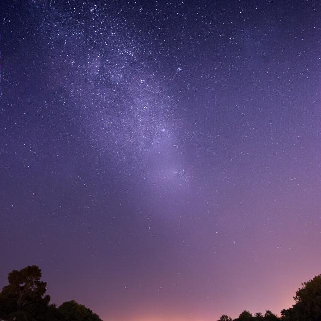 """Milky Way over Gisbourne"" stock image"