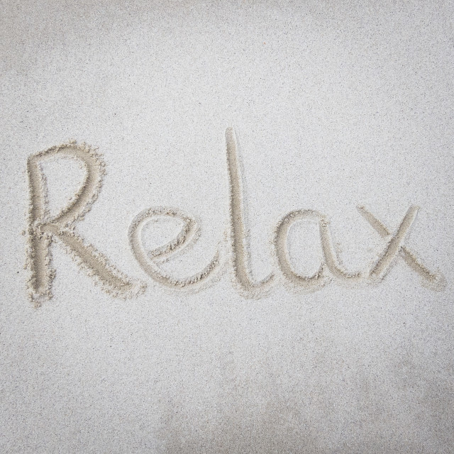 """""""Relax"""" stock image"""