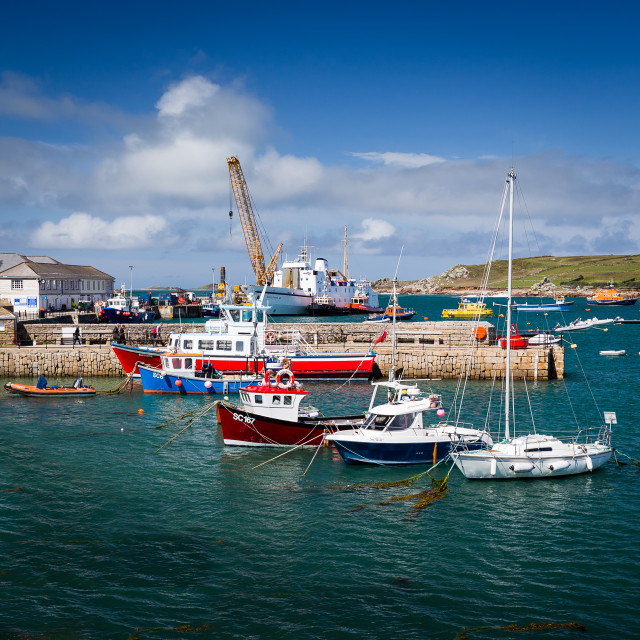 """""""St Marys Harbour"""" stock image"""