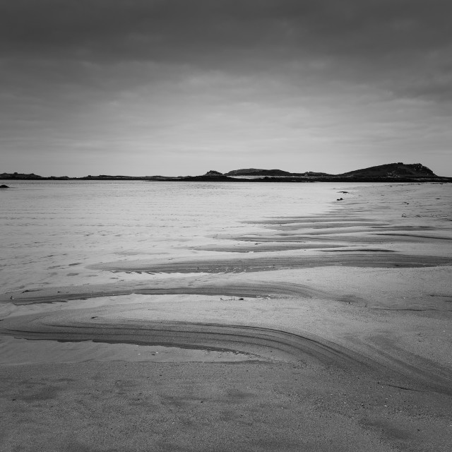"""""""Artistic Patterns In the Sand - St Marys"""" stock image"""