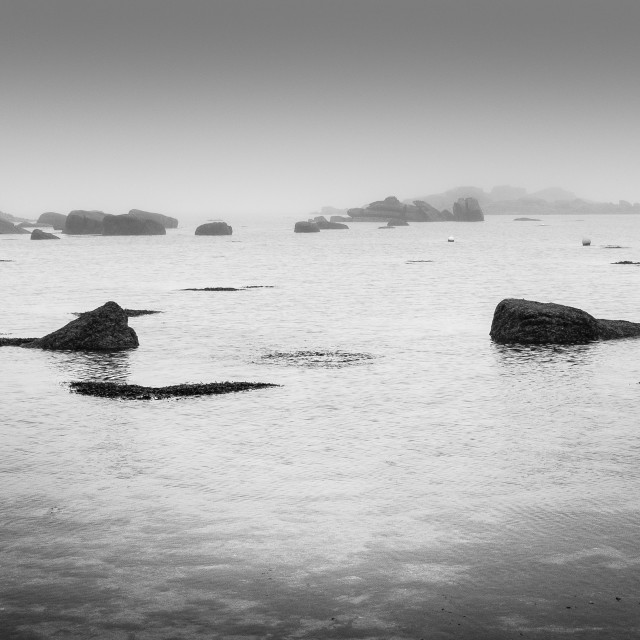 """""""Foggy Morning - Isles of Scilly"""" stock image"""