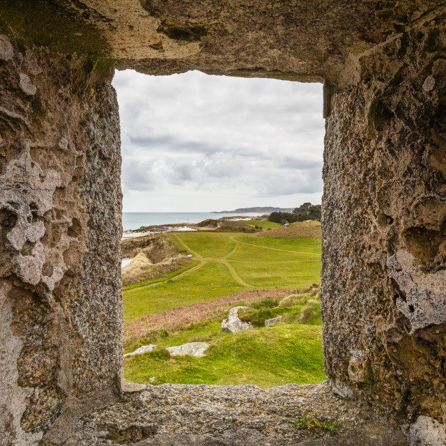 """""""View from The Block House Ruins on Tresco"""" stock image"""