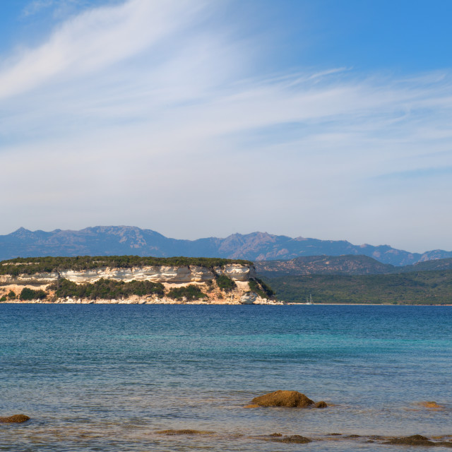 """Corsican coast in the south"" stock image"