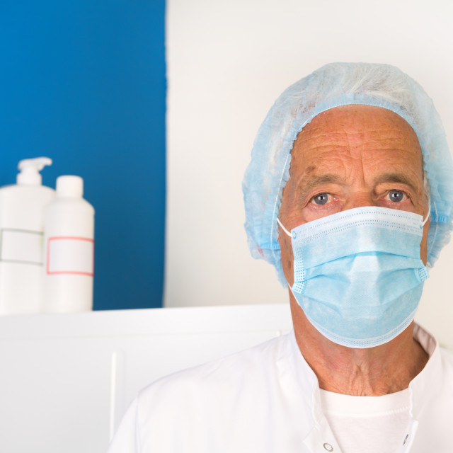 """""""Doctor with face mask"""" stock image"""