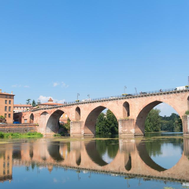 """Old bridge in Montauban"" stock image"
