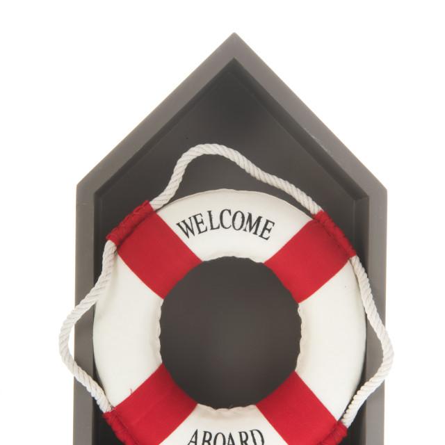 """""""Life buoy isolated over white background"""" stock image"""