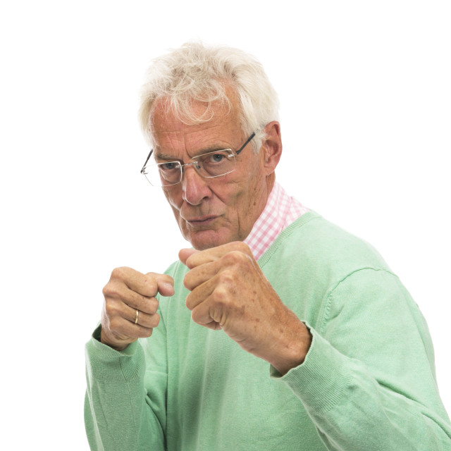 """Angry senior man"" stock image"