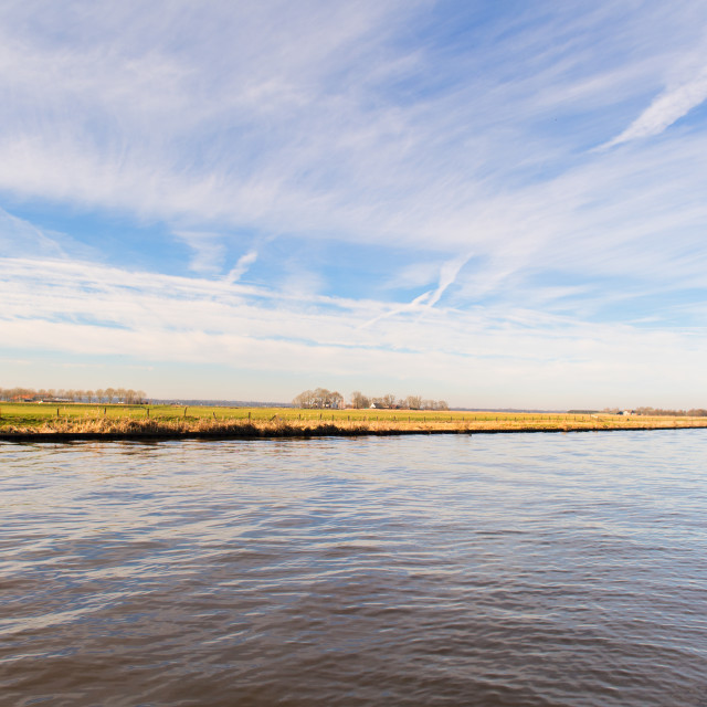 """Landscape river the Eem"" stock image"
