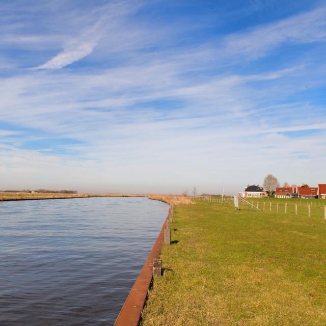 """Landscape river the Eem at Eemdijk"" stock image"