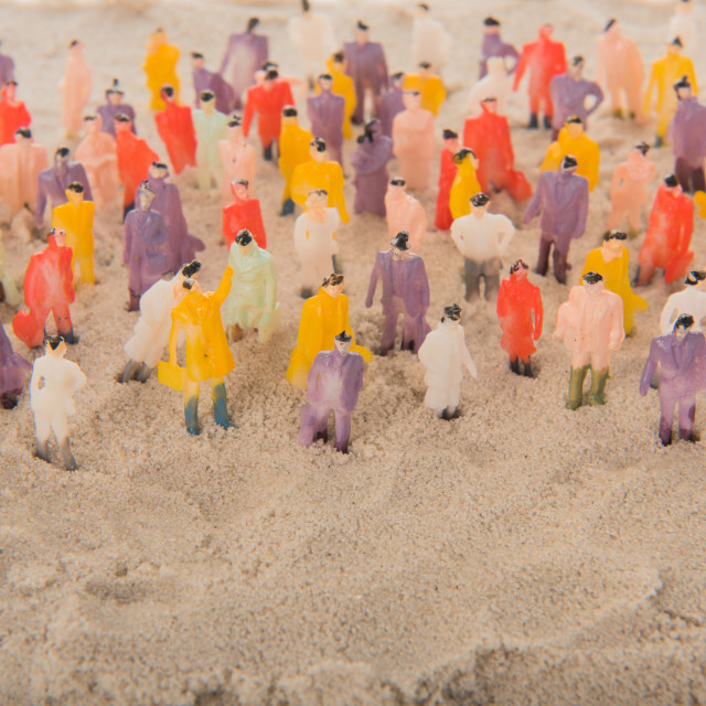 """""""People crown in sand"""" stock image"""