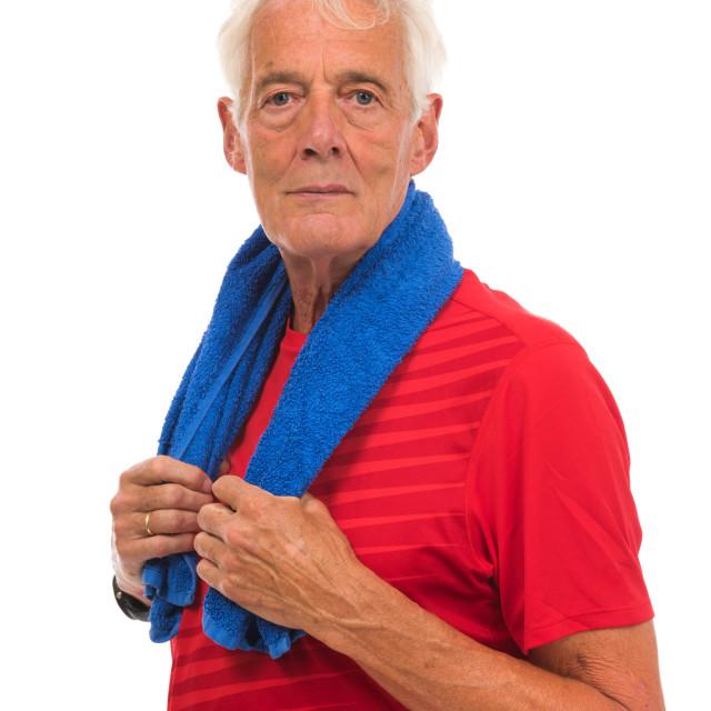 """Portrait senior sport man"" stock image"