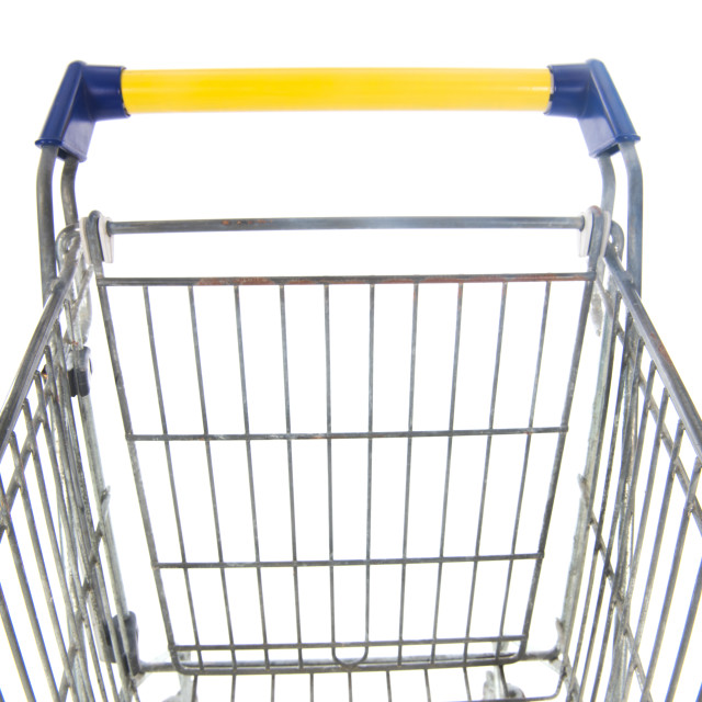 """""""Shopping cart blue and yellow"""" stock image"""