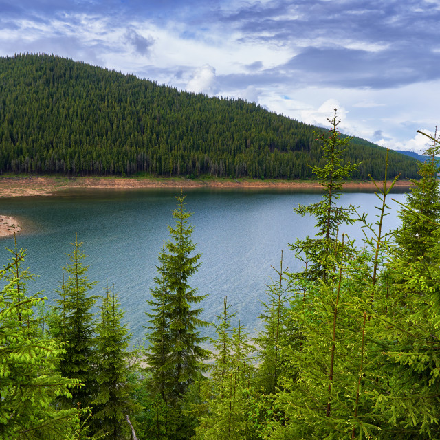 """""""Lake in the mountains"""" stock image"""