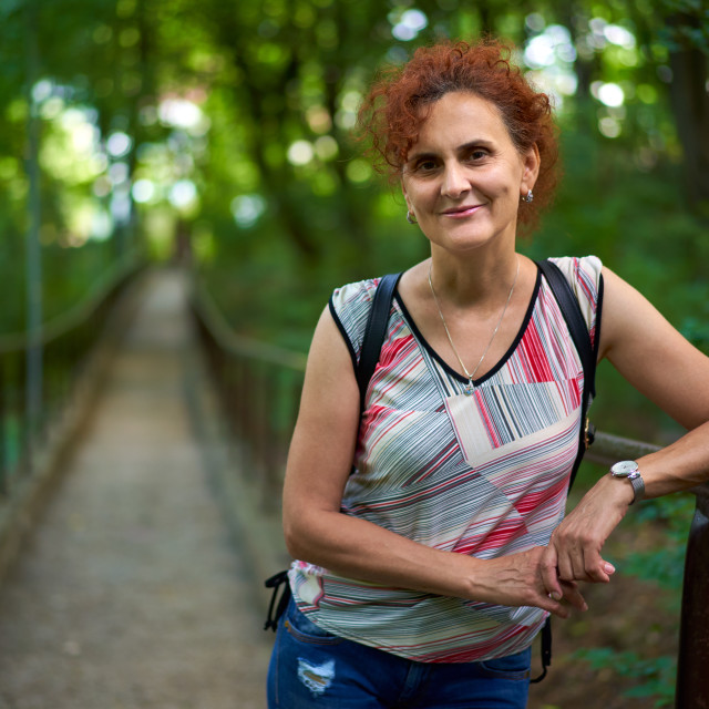 """""""Woman in the park"""" stock image"""