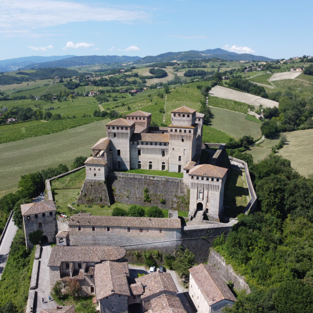 """Torrechiara castle"" stock image"
