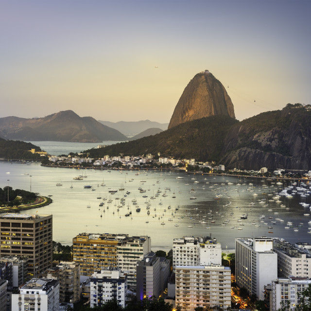 """""""The Red Moon in Rio"""" stock image"""