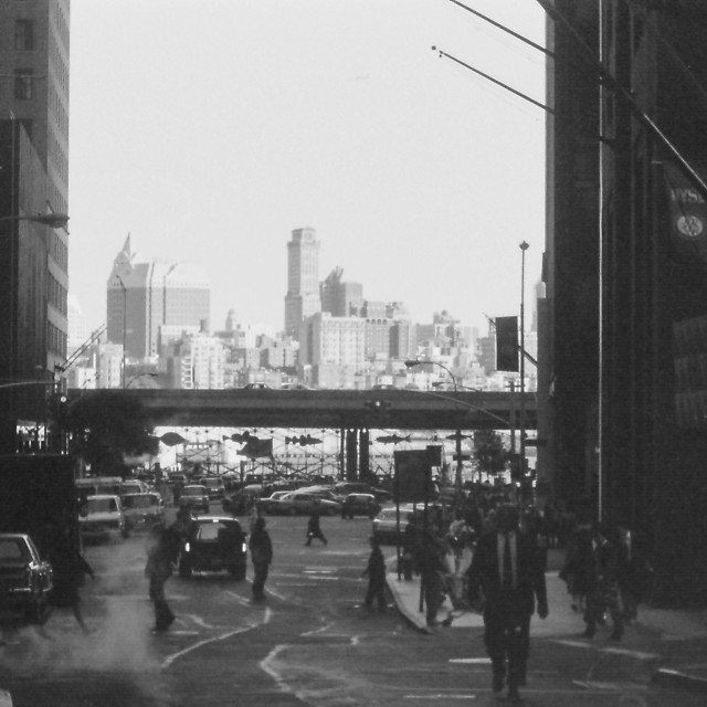 """Downtown NYC - 1992"" stock image"