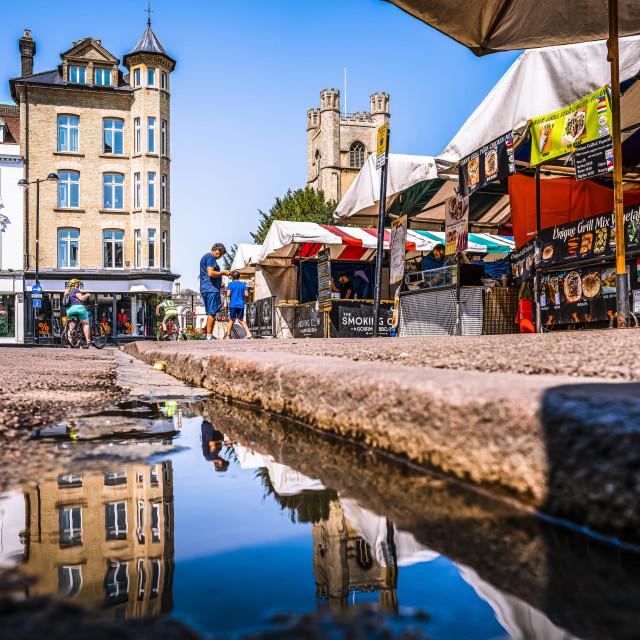 """""""Cambridge Market Square."""" stock image"""
