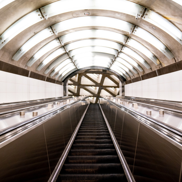 """""""Grand Central Escalators"""" stock image"""