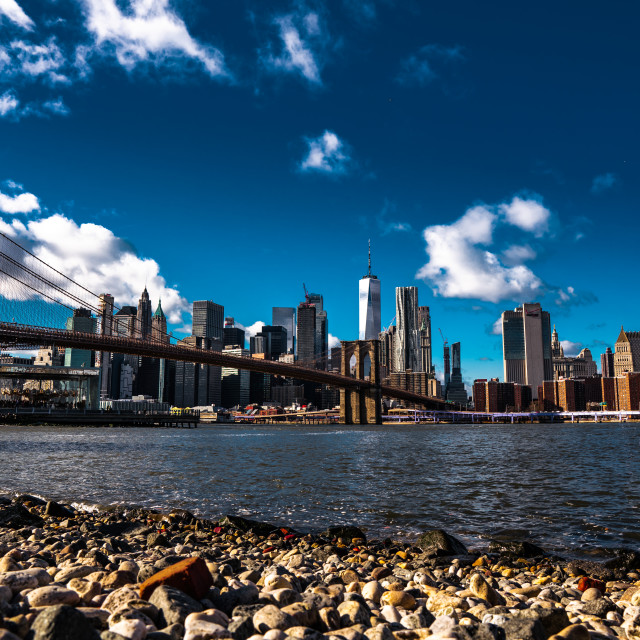 """Brooklyn Bridge Vertical"" stock image"