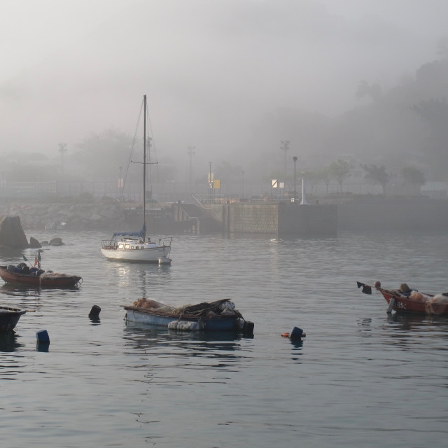 """""""Fog over the Harbour"""" stock image"""