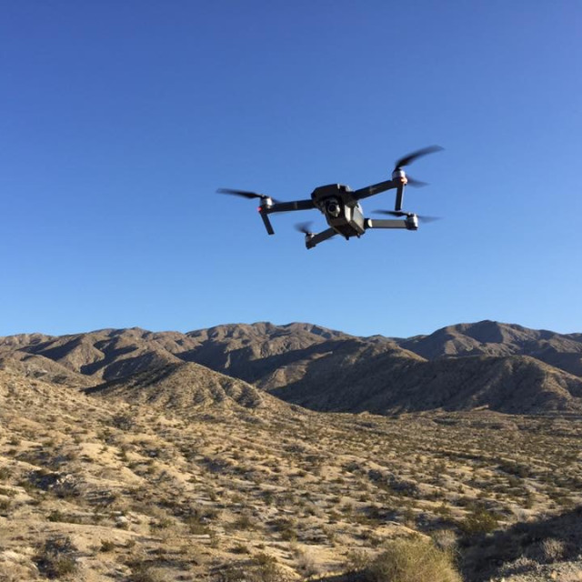 """Drone over the Desert"" stock image"