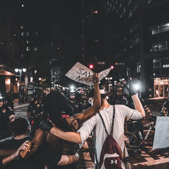 """""""Black Lives Matter Protest"""" stock image"""