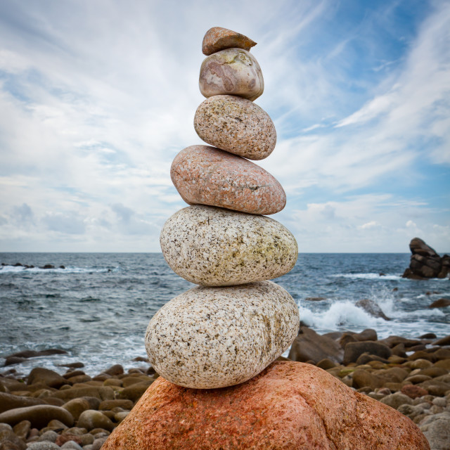 """Seven Stones Stack"" stock image"