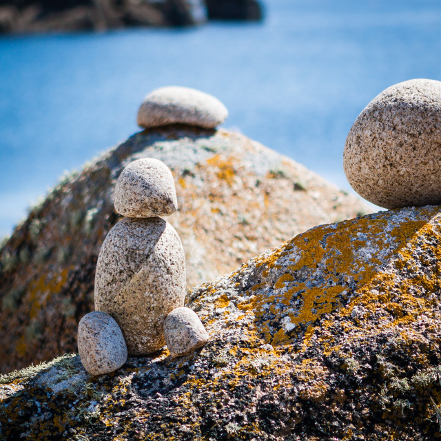 """""""Granite Bird and Youngsters"""" stock image"""