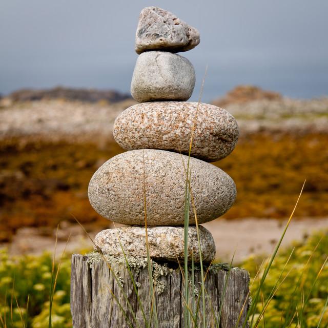 """Stone Stack"" stock image"