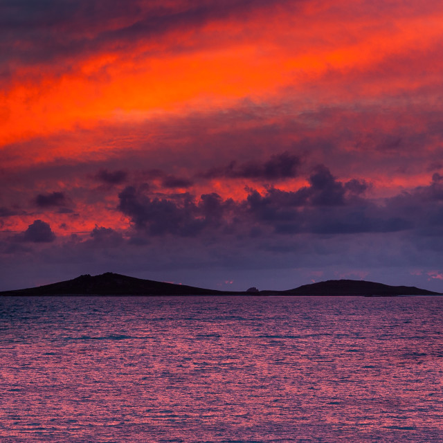 """Sunset Over Samson"" stock image"