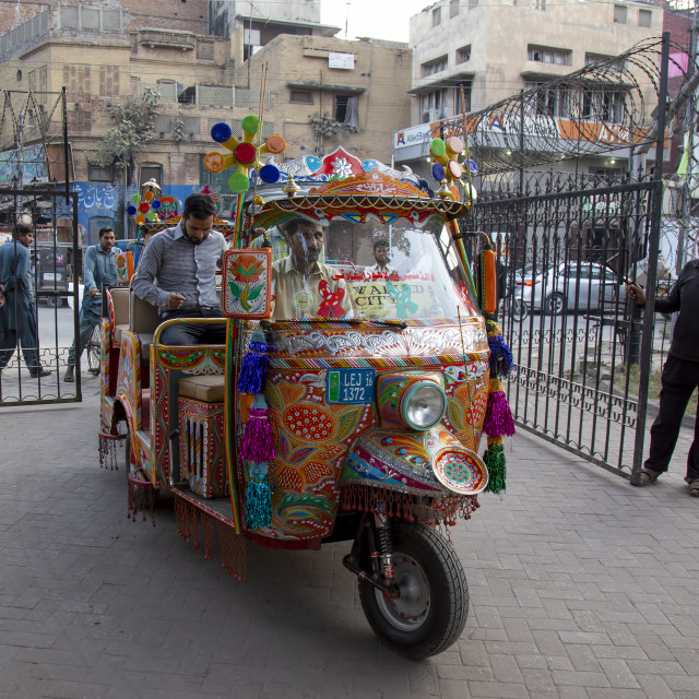 """Rickshaw in Walled City of Lahore"" stock image"