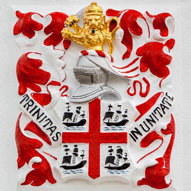 """Trinity House Logo - Peninnis Head Lighthouse"" stock image"