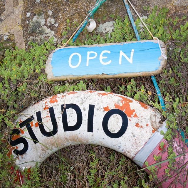 """Richard Pearce - Beach Studio - Brhyer"" stock image"