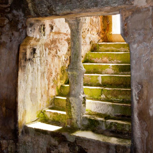 """""""Inside Cromwell's Castle"""" stock image"""