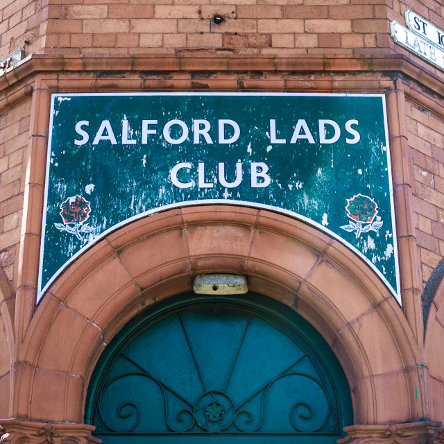 """My Manchester - Salford Lads Club"" stock image"