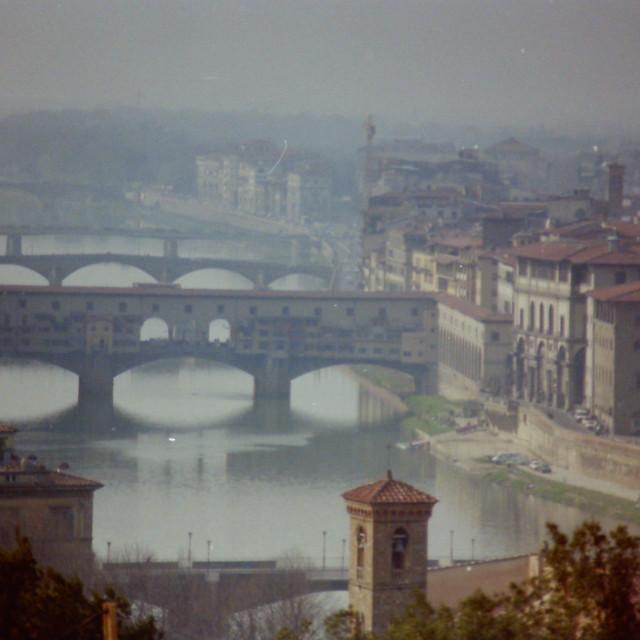 """""""Il Ponte Vecchio (1992)"""" stock image"""