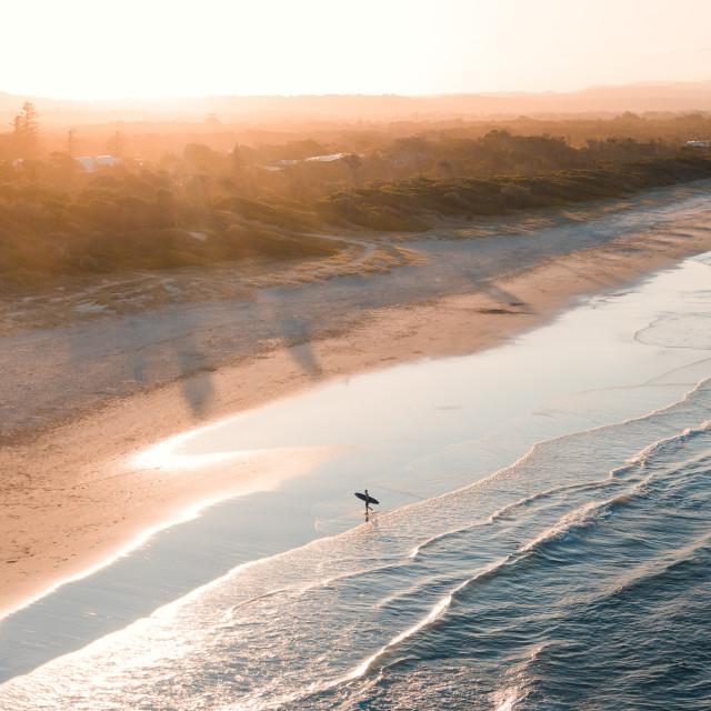 """Byron Surfer"" stock image"