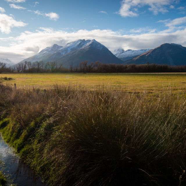 """Glenorchy Fields"" stock image"