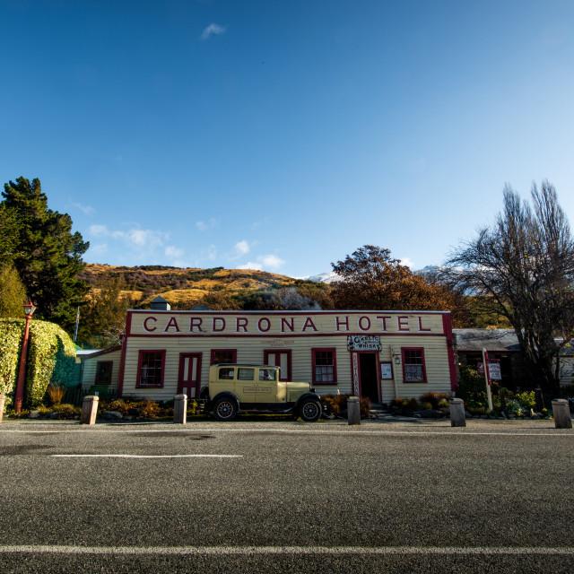 """Cardrona Pub"" stock image"