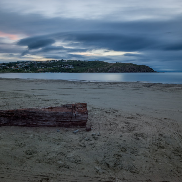 """Sunset at Titahi Bay"" stock image"