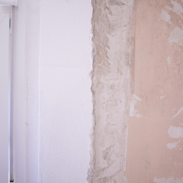 """""""Refurbishment building site works in house"""" stock image"""